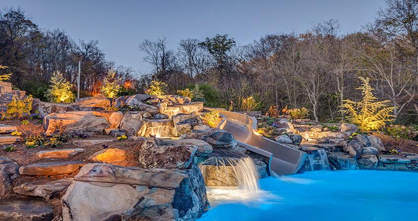 toboggan de piscine