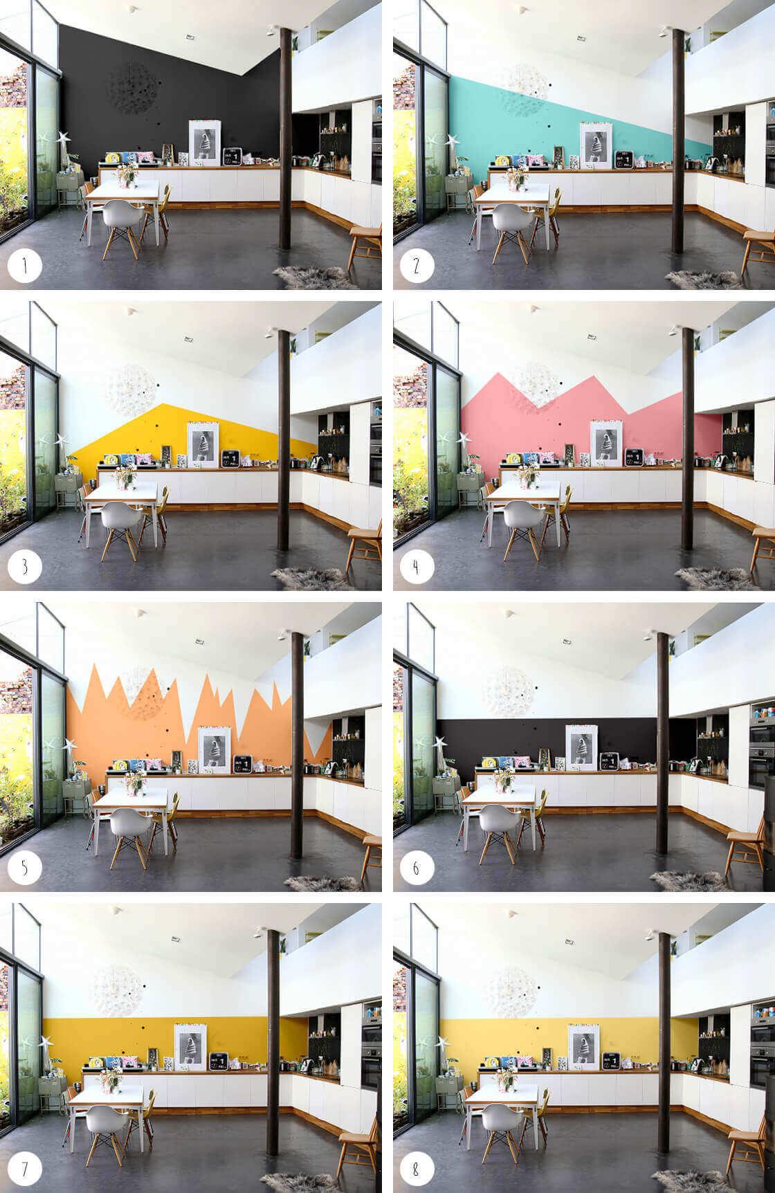 Renouveler la d coration de votre maison gr ce la peinture int rieure - 2 couleurs de peinture dans une piece ...