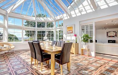 veranda moderne couleur blanche