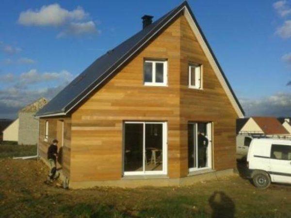 Maison construite en bois à Evreux en Normandie